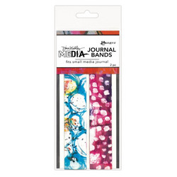 Dina Wakley Media Printed Journal Bands -nauhat, small