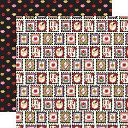 Echo Park Be My Valentine skräppipaperi Love Stamps