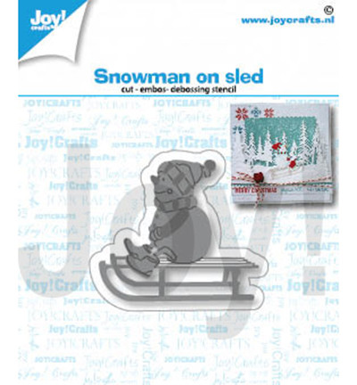 Joy! Crafts stanssi Snowman on Sled
