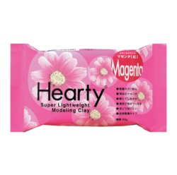 Hearty Super Lightweight Air-Dry Clay, kevytsavi, magenta, 50 g