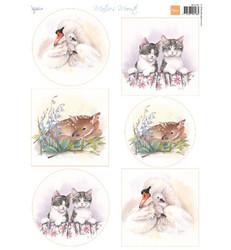Marianne Design Baby Animals -korttikuvat