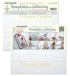 Leane Creatief sapluunasetti Templates for Lettering, Alphabet Style 1