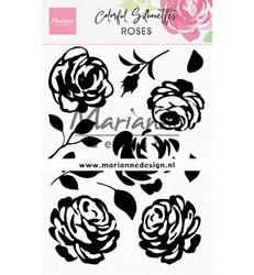 Marianne Design Colorful Silhouette - Roses -leimasinsetti