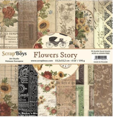 ScrapBoys paperikko Flowers Story
