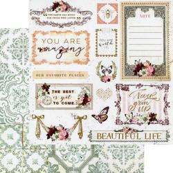 Prima Pretty Mosaic -skräppipaperi Beautiful Life