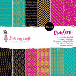 Dress My Craft paperipakkaus Opulent, foiled