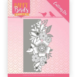 Jeanines Happy Birds stanssi Flower Edge