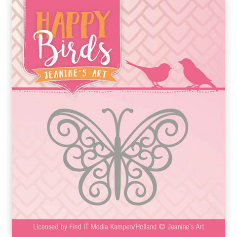 Jeanines Happy Birds stanssi Happy Butterfly
