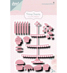 Joy! crafts Vintage Teaparty, Cupcakes -stanssisetti