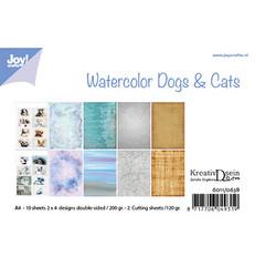 Joy! crafts paperipakkaus Watercolor Dogs & Cats
