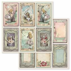 Stamperia skräppipaperi Alice Cards