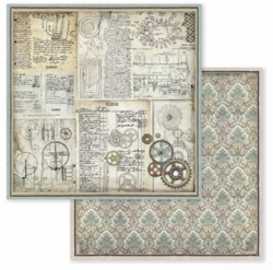 Stamperia skräppipaperi Voyages Fantastiques Gears