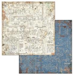Stamperia skräppipaperi Mechanical Fantasy Circuit