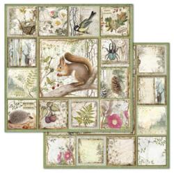 Stamperia skräppipaperi Framed Forest Squirrel