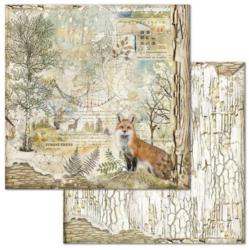 Stamperia skräppipaperi Forest Fox