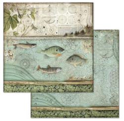 Stamperia skräppipaperi Forest Fish