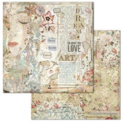 Stamperia skräppipaperi Love Art Face
