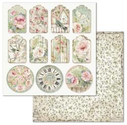 Stamperia skräppipaperi Tag House of Roses