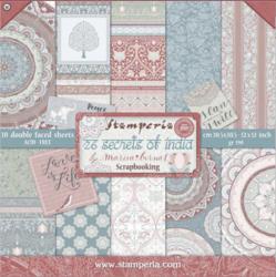 Stamperia paperipakkaus 26 Secrets of India, 12