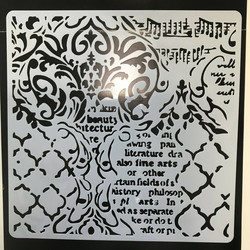 Stamperia sapluuna Wallpaper Music and Writings