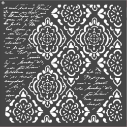 Stamperia sapluuna Wallpaper Rhombus and Writings