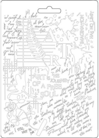 Stamperia Art -muotti (tekstuurilevy)