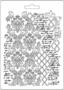 Stamperia Texture with Scriptures -muotti (tekstuurilevy)