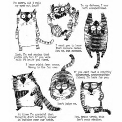Stampers Anonymous, Tim Holtz leimasinsetti Snarky Cats