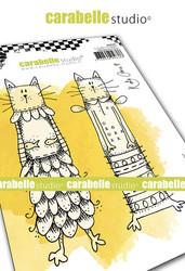 Carabelle Studio Kooky Cats -leimasinsetti