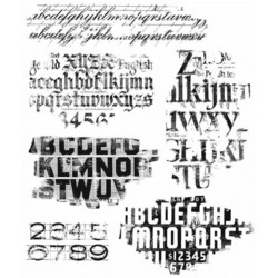 Stampers Anonymous, Tim Holtz leimasinsetti Faded Type