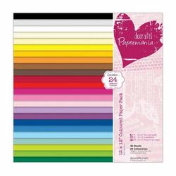 Papermania paperipakkaus Coloured Paper, 12