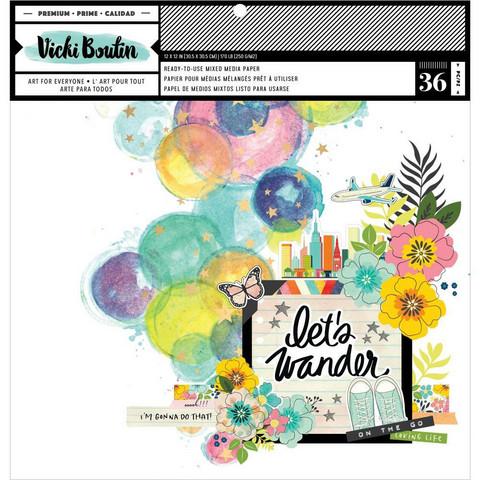 Vicki Boutin paperipakkaus Mixed Media Backgrounds, Let's Wander, 12