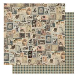 Authentique Purebred skräppipaperi Vintage Postage Stamps