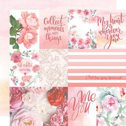 Paper House skräppipaperi Rose Garden Tags