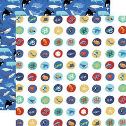 Carta Bella Fish Are Friends skräppipaperi Deep Sea Circles