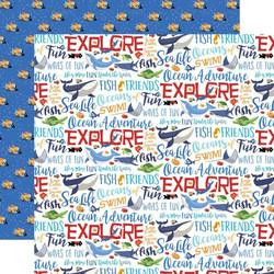 Carta Bella Fish Are Friends skräppipaperi Ocean Words