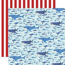 Carta Bella Fish Are Friends skräppipaperi Shark Swim