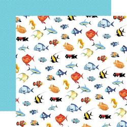 Carta Bella Fish Are Friends skräppipaperi Fish March