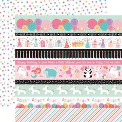 Echo Park It's Your Birthday Girl skräppipaperi Border Strips