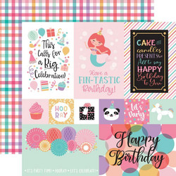 Echo Park It's Your Birthday Girl skräppipaperi Multi Journaling Cards