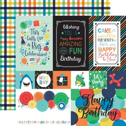 Echo Park It's Your Birthday Boy skräppipaperi Multi Journaling Cards