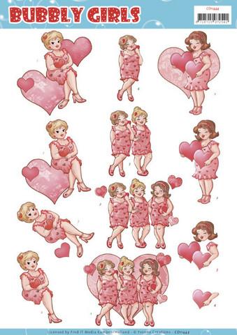 Yvonne Creations Bubbly Girls 3D-kuvat For You, leikattava