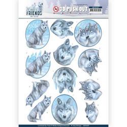 Amy Design Winter Friends 3D-kuvat Winter Wolves