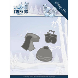 Amy Design Winter Friends stanssisetti Warm Winter Clothes
