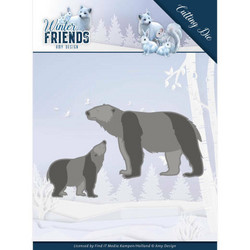 Amy Design Winter Friends stanssisetti Polar Bears