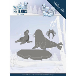 Amy Design Winter Friends stanssisetti Polar Friends
