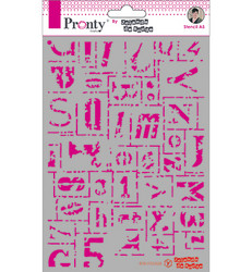 Pronty sapluuna Letters Grunge by Jolanda