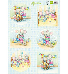 Marianne Design korttikuvat Hetty's Mice New Born