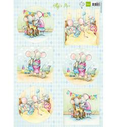 Marianne Design korttikuvat Hetty's Mice New Born