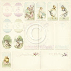 Pion Design Easter Greetings skräppipaperi Tags